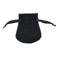 Bolsas de terciopelo negro Se adapta a las perlas de estilo de Pandora europeas encantos y pulseras collares de collares de las bolsas colgantes de moda