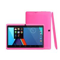Tablet Q88 7 بوصة بالسعة Allwinner A33 رباعية النواة Android 4.4 المزدوج كاميرا الكمبيوتر 8GB ROM 512MB WiFi Epad YouTube Facebook Google