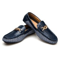 2019 Genuine Leather Driving Male Loafers Shoes For Men Bran...