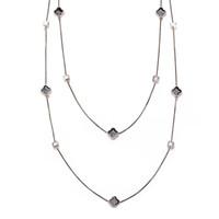 Koreanische Mode lange Kristall Halskette weibliche wilde Drop Öl Vierblatt Klee Multilayer Pullover Kette693