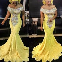 Elegant Nigerian Party Gowns Mermaid V Neck Long Evening Dre...