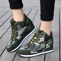 height increasing women running shoes Outdoor Canvas Casual ...