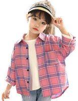 O 2019 New Autumn Style crianças Flor treliça T-shirt Cardigan Mangas compridas para estudantes roupas de menina