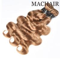 Hint Vücut Dalga Düz İnsan Saçları Örgüleri 3/4 Bundle 100% Hint Saç Rengi 2 # 30 # 99J # 27 # Remy Saç Uzantıları
