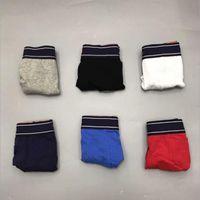 5pcs / lot Underwear Underwear Boxer Biancheria intima in cotone Uomo Sexy Mutandine uomo confortevole Traspirante Underpants Gay Boxer maschile Boxer Soft Softshorts
