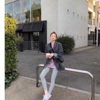 Abiti da donna Blazer 2021 Molla Donne Blazer Giacca Casual Khaki Work Suit Cappotto Ufficio Lady Tasche Moda Manica lunga Slim femminile
