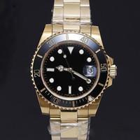 Часы высокое качество 18K золотой корпус 40 мм керамическое кольцо сапфировое стекло автоматическое движение 3 стиля выбрать бесплатную почтовую доставку