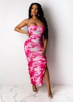 Spaghetti Strap Bunte Womens Kleider Sommer Sleeveless Split Leopard Sexy Damen Bodyconkleider Designer Weibliche Kleider