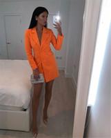 Color Designer Blazer Giacchi a risvolto Sottile Ufficio Signora Vestiti Summer Femmina Doppio Cappotto Breasted Nuovo Womens Solid Solid