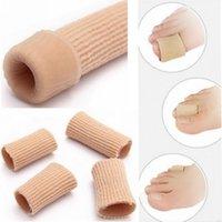 Pés Dedo Corrector Palmilhas Tecido gel de silicone Toes Tubo joanete Fingers Separador Divisor Protector Grãos Calos