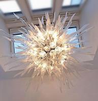 팬시 지우기 공을 손 램프 펜던트 램프 쇼룸 샹들리에 매달려 유리 샹들리에 조명 LED 빛 풍선