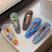 Ins Ins Vintga Conch Girls Capelli Clips Moda Girls Designer Capelli Clip per bambini Barrettes designer Capelli Accessori per bambini BB Clip A10317