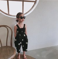 2019 New Fashion Girls Dots Bow tute Estate Moda ragazze Pantaloni 2-7 t PT913
