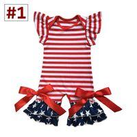 Baby Girl Boutique Rompers Малыша Весна Лето Флаттер Рукав Комбинезон Младенческая хлопок бейсбол футбол дизайн Одежда 7 Цветов 6 Размер