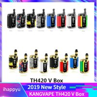 Original Kangvape TH420 V Box Kit 800mAh 20W einstellbare Leistungstemperatur Vape Mod TH-420 V Starter Kit mit 0,5 ml Keramikspule Patrone
