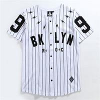 Mode Streetwear Uniformes Baseball Quick Dry Shirts Mens Baseball Shirts Swag Jersey T noir uni 2020