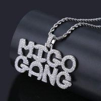 Hip Hop Bubble letters Necklace & Pendant Men' s Jewelry...