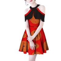 Elegante Vrouwen Jurken O-hals Vlinder Mouwen Африкаанс восковой печати Jurk Базин Riche Традиционная африкаанс Ontwerp Kleding WY027