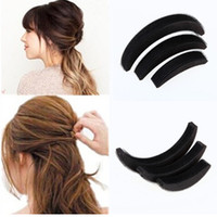 3 Pcs set Different Sizes Fluffy Crescent Clip Bangs Paste R...