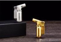 Alta calidad refilable inflable metal ajustable llama gas butano a prueba de viento 1300 jet llama antorcha encendedor cigarrillo de cigarrillo de metal encendedor