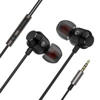 New in- ear metal earphones magnetic wire control with wheat ...