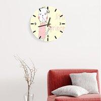 Horloges murales Craton Mignonne Horloge silencieuse Creative Moderne Design Moderne Design Chilédren Chambre Zegar Na Sciane Accueil Décor BB50