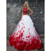 Two Pieces Cheap Quinceanera Ball Gown Prom Evening Dresses ...
