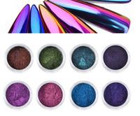 0.3g Chameleon Mirror Nail Glitters Polvere Fai da te Nail Chrome pigmento Polvere Manicure Nail Art Decoration Tools