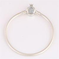 Réel 925 Bracelet en argent Bracelet 598286CZ Fit Pandoras style de bijoux breloques et perles bricolage 10pcs / lot Vous pouvez mélanger la taille bateau gratuit
