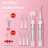 HERE-MEGA Sonic Elektrische Zahnbürste USB aufladbare Austauschbare Reinigungsbürstenkopf Verbesserte Ultraschall-Whitening Zähne Erwachsene