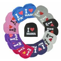قبعات قبعات التريكو للأطفال I Love MAMA PAPA Beanies Fit for Kids Boys Girls 1-3 years