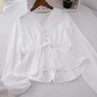 Spring Women Hollow Out Blouse Cute Bushes Lace Shirts Women...