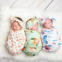 Neonato floreale Swaddling dormire fasce bag + Set Fiori stampare Bambino Nursery Bedding Infant Toddlers Coperte 6 stili