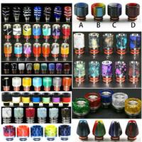 Drip Tip 510 resina epossidica in acciaio inox Drip Tips forma di cono colorato Bocchino Per V8 V12 Kennedy 24 E suggerimenti gocciolamento Cigarette 510
