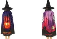 Halloween Dress Up Kostuum Hoed Mantel Set Volwassenen Tiener Pumkin Bat Skeleton Ghost Cape Horn Hats Nightmare Classic Costumes