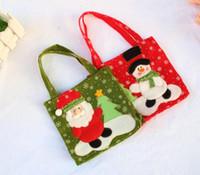 Yeni Festival 16 cm Yılbaşı Noel hediyeleri Noel Baba Kardan Adam Şeker Çanta Hangable Kılıfı Çanta Depolama Paketi Konteyner Organizatör