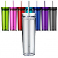 FedEx Send 16oz Acrylic Skinny Tumbler with Straw 480ml Doub...