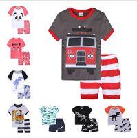 Çocuk Giyim Seti Bebek Giyim Setleri Bebek Erkek Giysileri Karikatür Yaz Kısa Kollu T Gömlek + Kısa Pantolon Çocuk Erkek Kıyafetleri