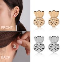 Metal Crown Stud Earring Aid Women Earring Buckle Helper Hol...
