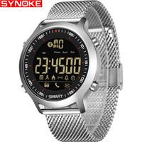 Synoke سمارت ووتش للماء ip68 5atm رسالة تذكير طويلة جدا الاستعداد xwatch كرونوغراف الرياضة smartwatch هدية للرجال Y19062004