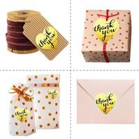 Gracias amor auto-adhesivo de sellado pegatinas Kraft etiqueta autoadhesiva hecha a mano DIY torta del regalo del caramelo etiquetas de papel