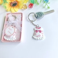 100 PCS Pink Baby Dress Key Chain Baby Girl Christening Gift...