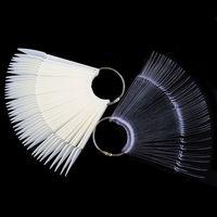 10 Satz Klar Falsche Nägel Fan Stil Praxis Display Sticks polnischen Natürliche Schwarz Transparent Display Acryl Tipps für Gel Werkzeuge