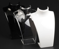 Pendiente de maniquí acrílico Pendiente Pendiente Collares Collares Modelo Soporte para la joyería de moda Regalo 2pcs / lot DS13 *