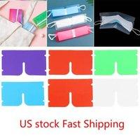 US EN STOCK navire stockage masque visage portable Porte-clip en plastique Mini pliable Conteneur bonbons colorés boîte de rangement * 12cm 19,2 antipoussière