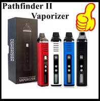Otantik Pathfinder II 2 Bitkisel Buharlaştırıcı Kiti 2200 mAh Pil Sıcaklık Kontrolü TC Modu LCD Ekran balmumu kuru ot atomizer Vape kalem sigaralar
