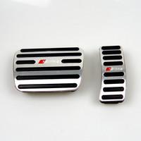 Non Drill Audi en alliage d'aluminium de gaz rupture Pads Pedal Cover pour Audi A4 A5 A6 Q3 Q5 Q7 AT LHD gaz Pause Pédales