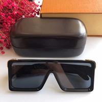 Gafas de sol de la venta caliente Diseño de la caja gafas de sol 1258 gafas de sol del marco siameses plena de las mujeres hombres del estilo retro de los hombres con el logotipo del oro brillante