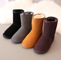 Sıcak satmak 2019 Yüksek Kalite WGG Avustralya kadın erkek Klasik uzun çizmeler Kadın çizmeler Boot Kar Kış deri çizmeler ABD BOYUTU 5 --- 13