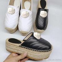 Dessin animé Big Head Slippers Designer 2019 nouveaux produits chaussures femme Métal bouclé Bas épais chaussures de pêcheur mode cuir sexy slip